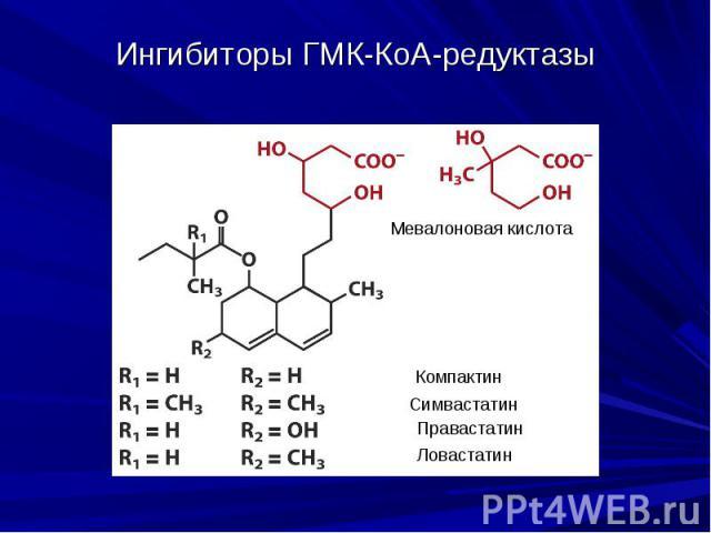 Ингибиторы ГМК-КоА-редуктазы