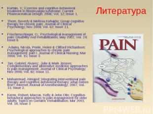 Kurtais, Y.; Exercise and cognitive-behavioral treatment in fibromyalgia syndrom