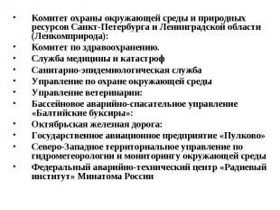 Комитет охраны окружающей среды и природных ресурсов Санкт-Петербурга и Ленингра