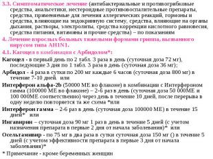 3.3. Симптоматическое лечение (антибактериальные и противогрибковые средства, ан