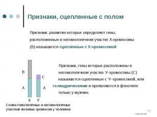 Признаки, гены которых расположены в Признаки, гены которых расположены в негомо