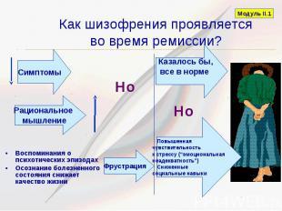 Как шизофрения проявляется во время ремиссии? Воспоминания о психотических эпизо