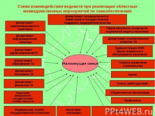Схема взаимодействия ведомств при реализации областных межведомственных мероприя