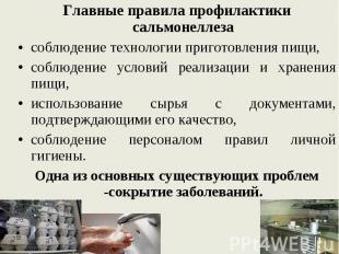 Главные правила профилактики сальмонеллеза Главные правила профилактики сальмоне