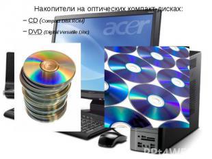 Накопители на оптических компакт-дисках: Накопители на оптических компакт-дисках