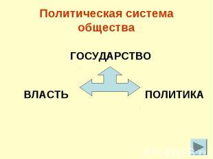 Политическая система общества