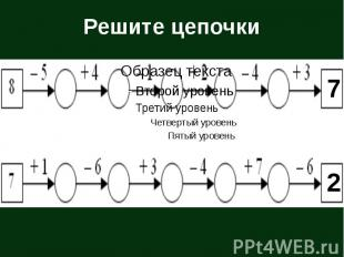 Решите цепочки