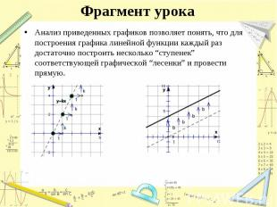 Анализ приведенных графиков позволяет понять, что для построения графика линейно