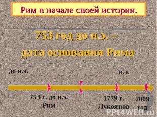 753 год до н.э. – 753 год до н.э. – дата основания Рима
