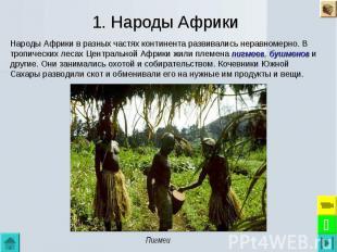 1. Народы Африки