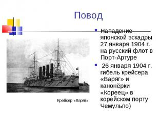 Нападение японской эскадры 27 января 1904 г. на русский флот в Порт-Артуре Напад