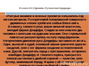 Из книги И.Е.Ефремова «Путешествие Баурджеда».