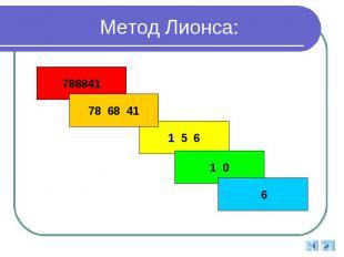Метод Лионса: