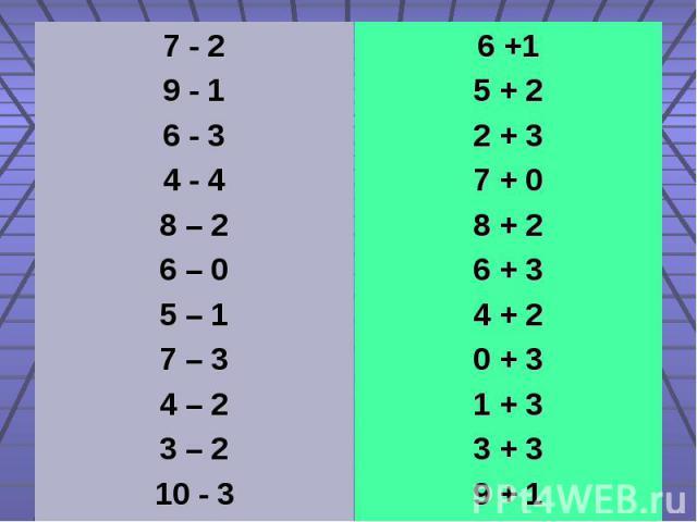 7 - 2 7 - 2 9 - 1 6 - 3 4 - 4 8 – 2 6 – 0 5 – 1 7 – 3 4 – 2 3 – 2 10 - 3