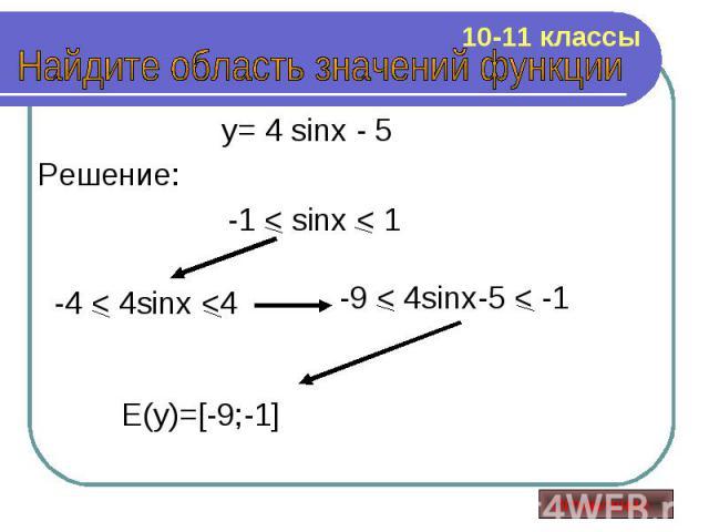 y= 4 sinx - 5 y= 4 sinx - 5