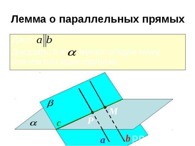 Лемма о параллельных прямых