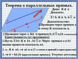 Теорема о параллельных прямых.