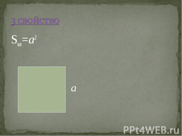 Sкв=a2 Sкв=a2