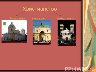 Христианство Православие Католицизм Протестантизм