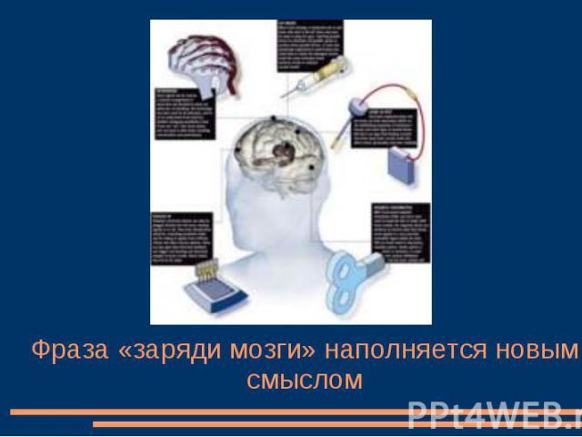 Фраза «заряди мозги» наполняется новым смыслом