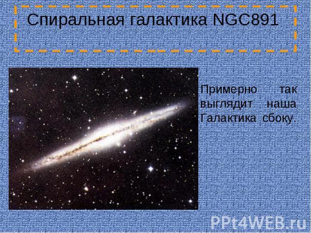 Спиральная галактика NGC891