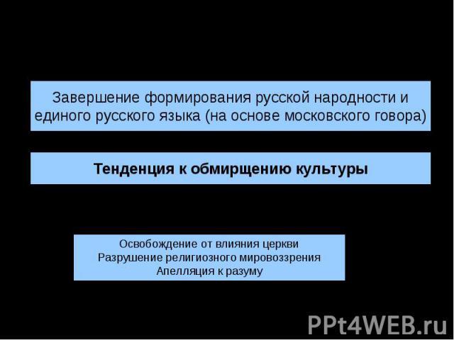 Культура России XVII в.: основные тенденции