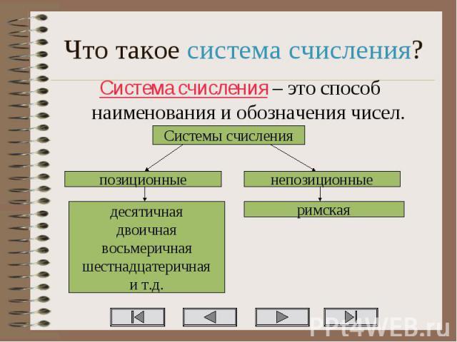 Система счисления – это способ наименования и обозначения чисел. Система счисления – это способ наименования и обозначения чисел.