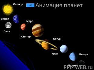 Анимация планет