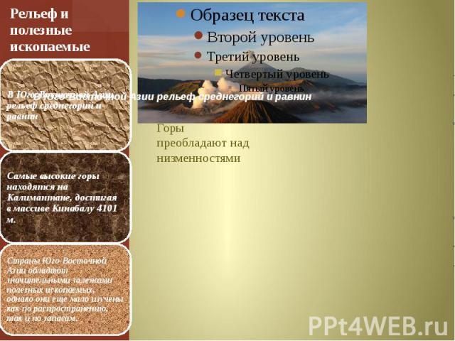 Рельеф и полезные ископаемые