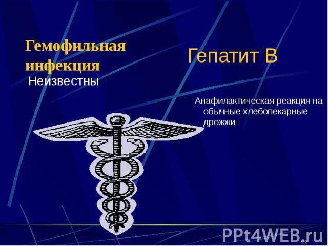 Гепатит В Неизвестны