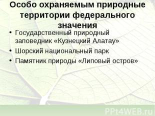 Государственный природный заповедник «Кузнецкий Алатау» Государственный природны