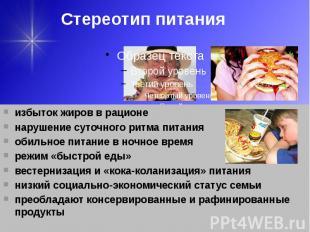 Стереотип питания
