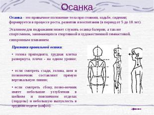 Осанка