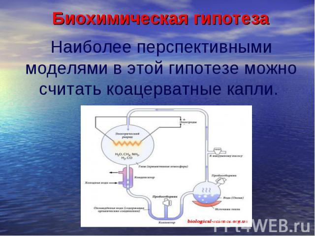 Биохимическая гипотеза Биохимическая гипотеза