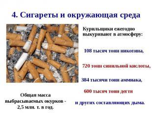 4. Сигареты и окружающая среда