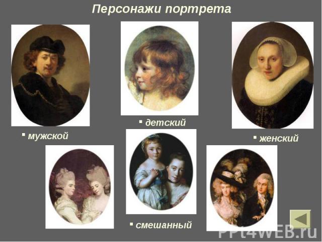 Персонажи портрета