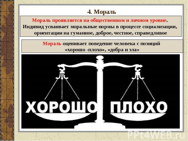4. Мораль