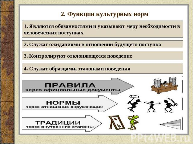 2. Функции культурных норм