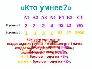 «Кто умнее?»