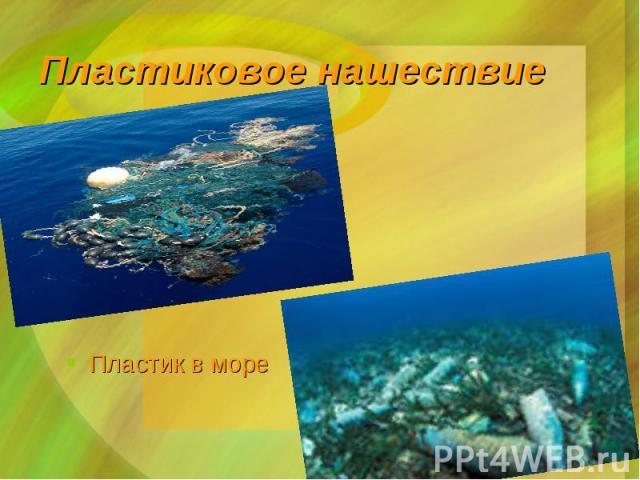Пластик в море Пластик в море