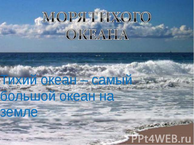 Тихий океан – самый большой океан на земле