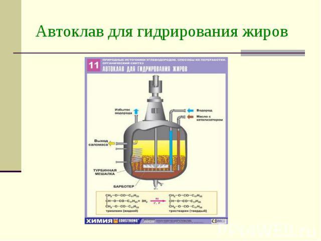 Автоклав для гидрирования жиров