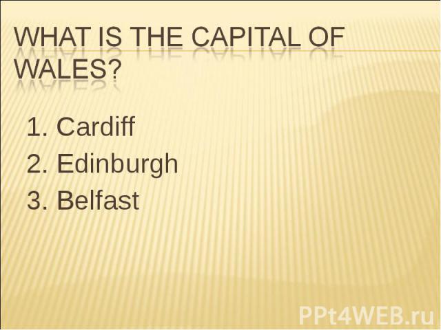 1. Cardiff 1. Cardiff 2. Edinburgh 3. Belfast