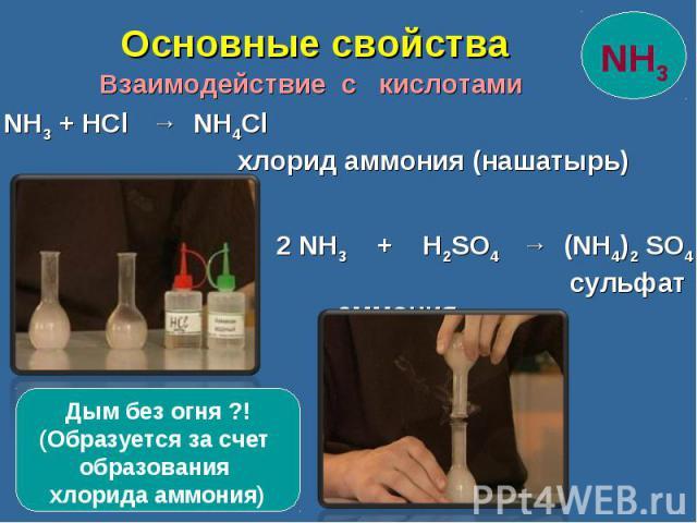 Взаимодействие с кислотами Взаимодействие с кислотами