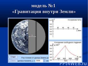 модель №1 «Гравитация внутри Земли»