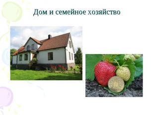 Дом и семейное хозяйство