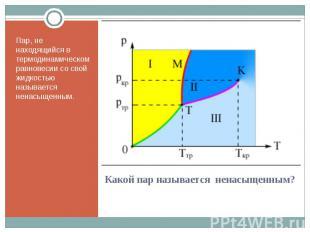 Пар, не находящийся в термодинамическом равновесии со свой жидкостью называется