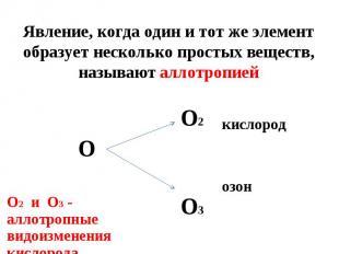 кислород кислород озон