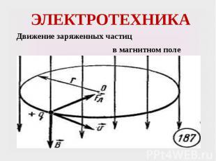 ЭЛЕКТРОТЕХНИКА Движение заряженных частиц в магнитном поле