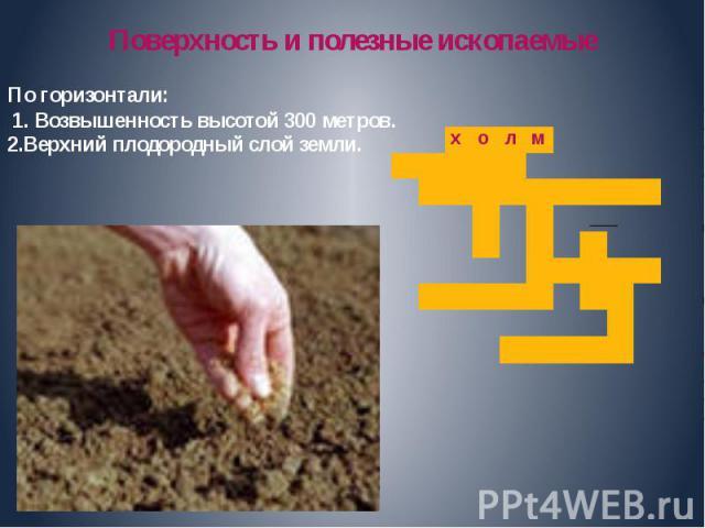 Поверхность и полезные ископаемые